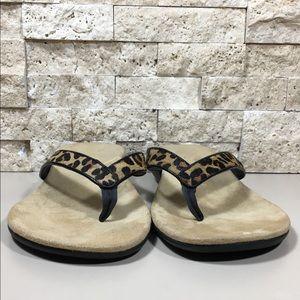 41461b2dc73f Vionic Shoes | Flip Flop Sandals Orthaheel Leopard Selena | Poshmark